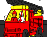 Coloring page Fire engine painted byOier