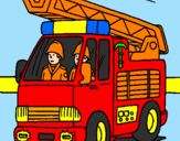 Coloring page Fire engine painted byAhmad Farhan