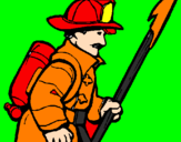 Coloring page Firefighter painted byAhmad Farhan