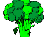 Coloring page Broccoli painted byErin