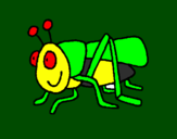 Coloring page Grasshopper 2 painted byLuis Mario Aguayo
