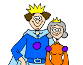 Coloring page King and queen painted bypuccq