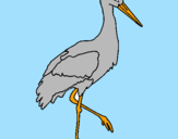 Coloring page Stork  painted bypedro