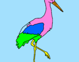 Coloring page Stork  painted byeric