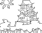 Coloring page Japanese house painted bymike