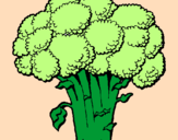 Coloring page Broccoli painted byEMELI