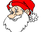 Coloring page Father Christmas face painted bymm