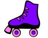 Coloring page Roller skate painted byJasmine