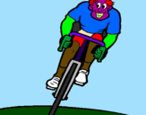Coloring page Cyclist with cap painted byjoaco