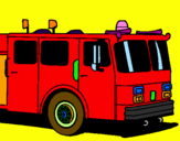 Coloring page Fire engine painted byJESUS