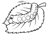 Coloring page Caterpillar eating painted bylupita