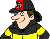 Coloring page Firefighter painted byryan