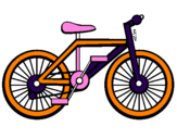 Coloring page Bike painted byalicia