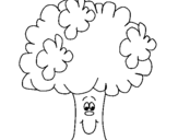 Coloring page Broccoli painted byeman
