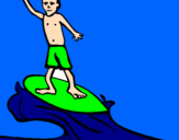 Coloring page Surf painted byengey