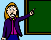 Coloring page Teacher II painted bymf