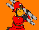 Coloring page Firefighter painted byFireman Dan