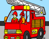 Coloring page Fire engine painted bymatheus