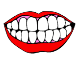 Coloring page Mouth and teeth painted bysalylaly
