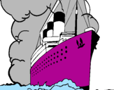 Coloring page Steamboat painted byReuben B.