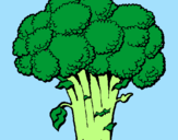 Coloring page Broccoli painted byMARILIZA
