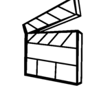 Coloring page Clapperboard painted byDirector