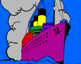 Coloring page Steamboat painted bymanan