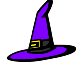 Coloring page Witch's hat painted byMARILIZA