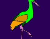 Coloring page Stork  painted byhabiba