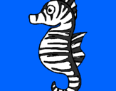 Coloring page Sea horse painted byGabriel-alonso-sanchez
