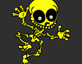 Coloring page Happy skeleton 2 painted byjordy
