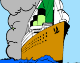 Coloring page Steamboat painted bynazareno
