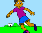 Coloring page Playing football painted byGUILHERME BARBOSA