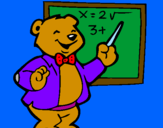Coloring page Bear teacher painted byXevi-alonso-sanchez