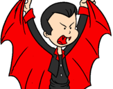 Coloring page Little Dracula painted byMarti