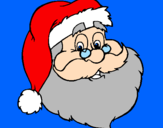 Coloring page santa face painted bydaniel