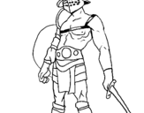 Coloring page Gladiator painted byvitor