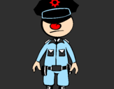 Coloring page Cop painted bysandy