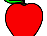 Coloring page apple painted byJane