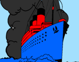 Coloring page Steamboat painted by boaz