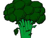 Coloring page Broccoli painted byallys