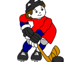 Coloring page Little boy playing hockey painted byAlex