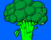 Coloring page Broccoli painted bydaniel