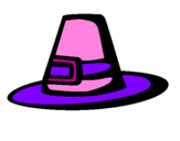 Coloring page Pilgrim hat painted bydesi