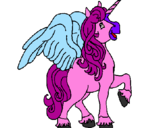 Coloring page Unicorn with wings painted byo7wp