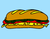 Coloring page Vegetable sandwich painted bymattia