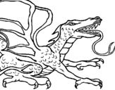 Coloring page Reptile dragon painted bypoo