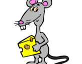 Coloring page Rat 2 painted bymouse-cheese
