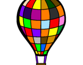 Coloring page Hot-air balloon painted byana mario