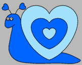 Coloring page Heart snail painted bylinda10
